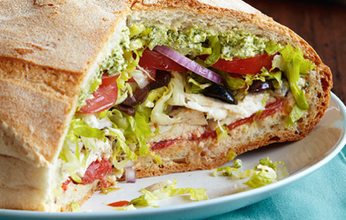 Italian Grilled Chicken Sandwiches With Pesto Cheese Sauce