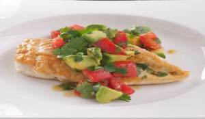 chicken breast with salsa