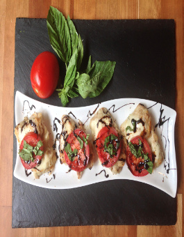 Baked Chicken Caprese with Bocconcini and Tomato Recipe