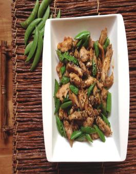 Thai chicken and sugar snap pea stir fry recipe