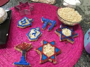 Hanukkah Rice Krispy Squares