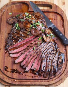 rose reisman flank steak with shitake