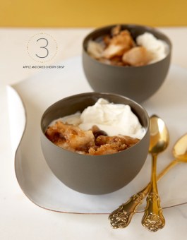 Apple and Dried Cherry Crisp Passover recipe