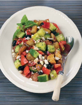 Rose Reisman Greek Salad with Roasted Potatoes