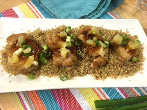 Rush Hour Meals CHCH - Baked Chicken Thighs with Homemade Barbeque Sauce and Pineapple