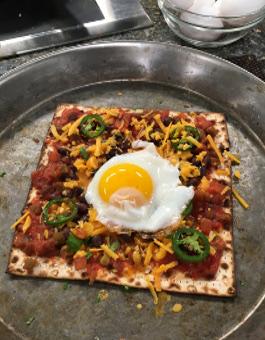 Passover Huevos Rancheros Matzo