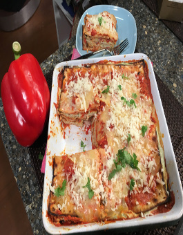 Passover Roasted Bell Pepper Lasagna
