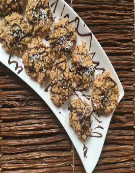 No Bake Peanut Coconut and Butterscotch Chip Cookie