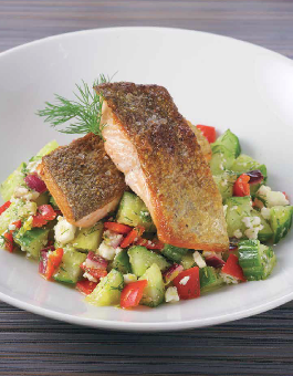 Salmon Trout with Cucumber Salsa