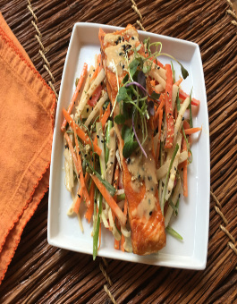 Grilled Salmon with Daikon