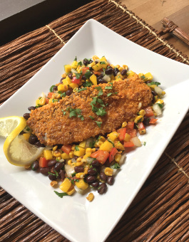 Rose Reisman Tortilla Crusted Tilapia