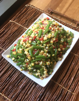 Fresh Corn and Sugar Snap Pea Salad