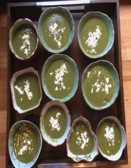 Rose Reisman Pureed Spinach Chickpea Soup