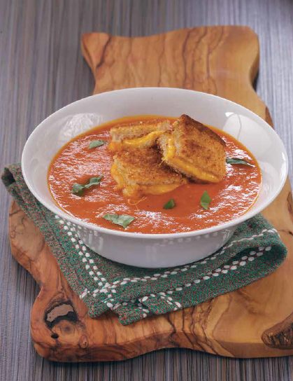 Rose Reisman Rush Hour Meals - Tomato Soup with Grilled Cheese