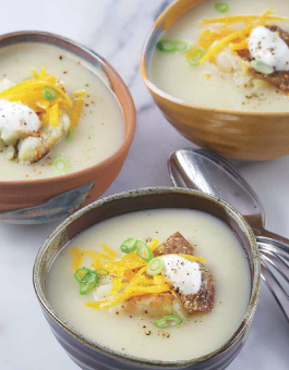 Baked Smashed Potato Soup with Cheddar Rose Reisman Recipe