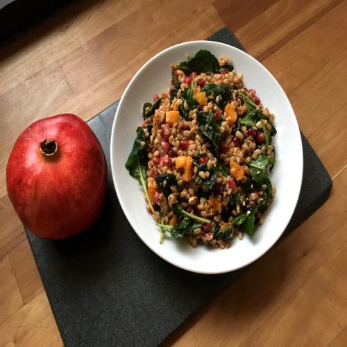 Farro, Roasted Squash and Kale Salad Rose Reisman Recipe
