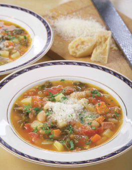 Minestrone Soup with Kale, Prosciutto and Cannellini Beans Rose Reisman Recipe