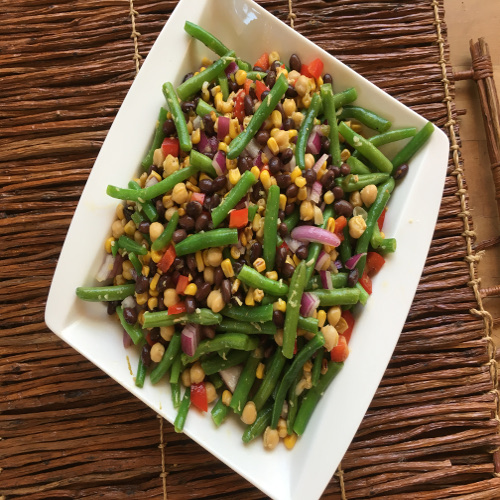 Three-Bean, Avocado and Charred Corn Salad- Rose Resieman Recipe