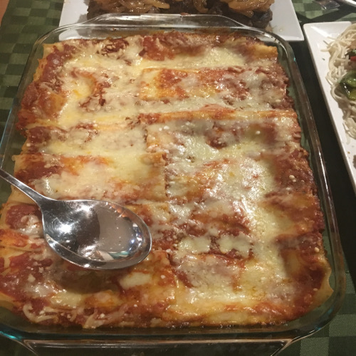 Cannelloni with Pesto and Cheese filling