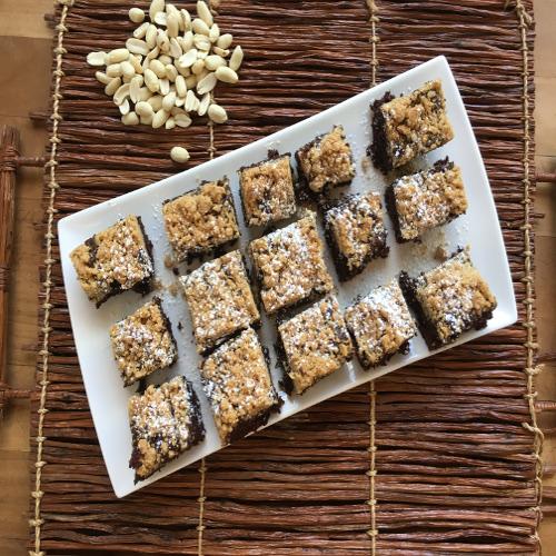 choc brownie peanut butter struedel