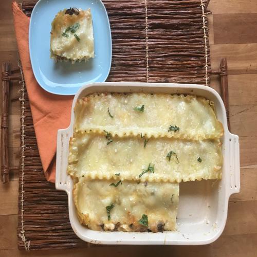 Mushroom and Cheese Lasagna