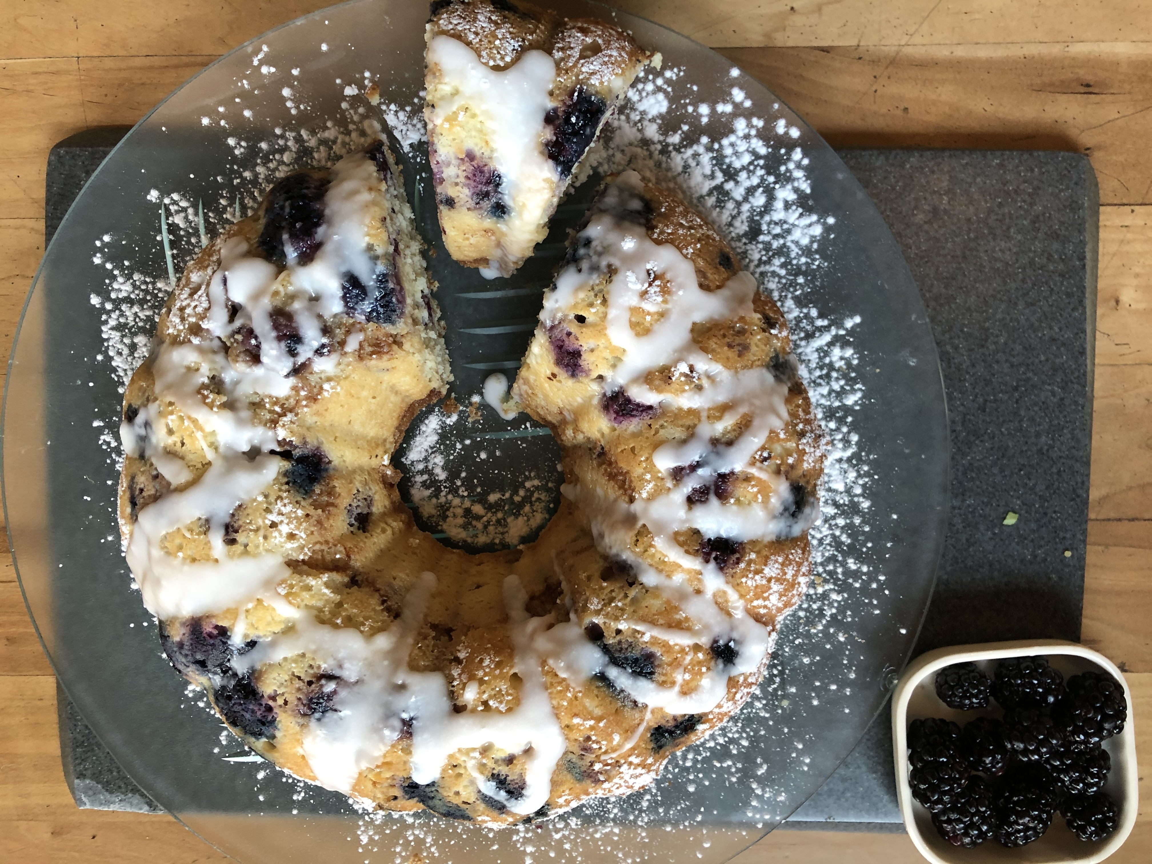 Blueberry Crumb Streusel Cake